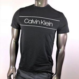 Calvin Klein Black Tee With White Logo